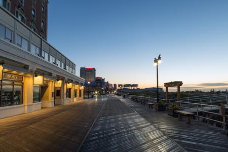atlantic city: Atlantic city, boardwalk at night