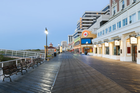 Atlantic city, boardwalk at night