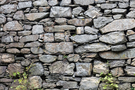 wall textures: Background made of a closeup of a stones wall