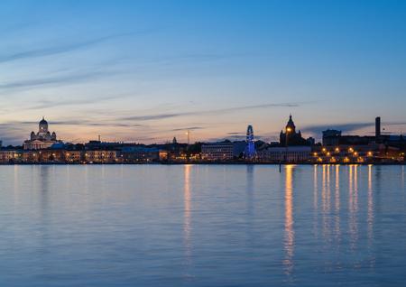 Night scenery of Helsinki, Finnland