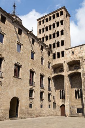 rei: Barcelona: medieval Palau Reial at Placa del Rei
