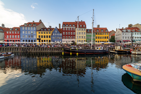 Nyhavn harbour was once the sailors quarter and the home of Hans Christian Andersen. Its colourful buildings are filled with cafes, bars, jazz clubs and tourists visiting Copenhagen.