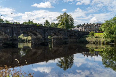Stirling Bridge, Scotland, scene of the historic Battle of Stirling Bridge where Scots led by William Wallace defeated the English in 1297 Stock fotó
