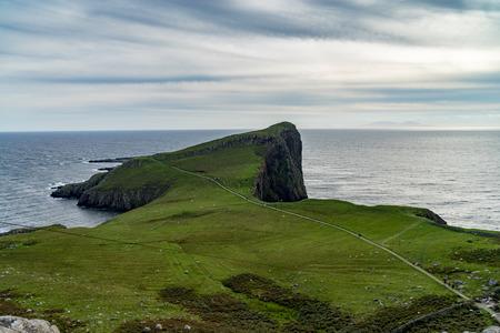 Neist Point lighthouse at Isle of Skye, Scottish highland
