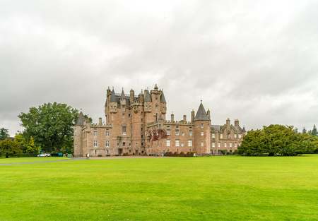 Castle of Glamis in the highlands of Scotland Editorial