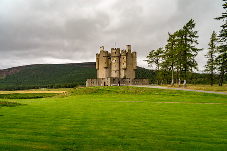 Braemar Castle, Aberdeenshire, Scotland is a former hunting lodge built in 1628 by the Earl of Mar and with historic connections to the Jacobite risings, and Queen Victoria Editorial