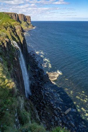 Kilt Rock and Mealt Falls, Skye, Wester Ross, Scotland, Uk.