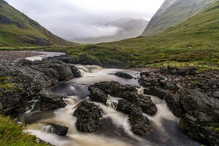 Glencoe landscape and Buachaille Etive Mor in the Scottish Highlands, Scotland