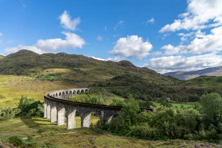 Famous Glenfinnan Railway Viaduct in Scotland
