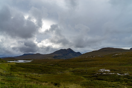 Knockan Crag in the far northwest of Scotland near Ullapool is one of the most important geological sites in Scotland 写真素材