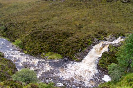 Ardessie Waterfall Cascades, Dundonnell river, scottish highlands