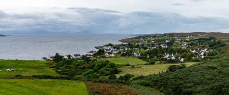 The coastal village of Gairloch in the remote Scottish Highlands, UK