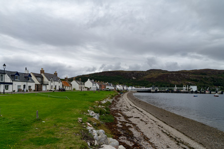 Town of Ullapool in northern Scotland, UK.