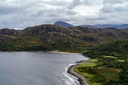Looking east over Gruinard Bay, west of Ullapool, Scotland