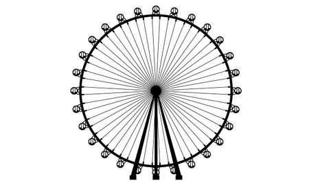 Realistic Ferris Wheel silhouette