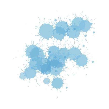 Vector illustration of splash watercolors Ilustración de vector