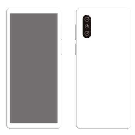 Vector illustration of smartphone on white background