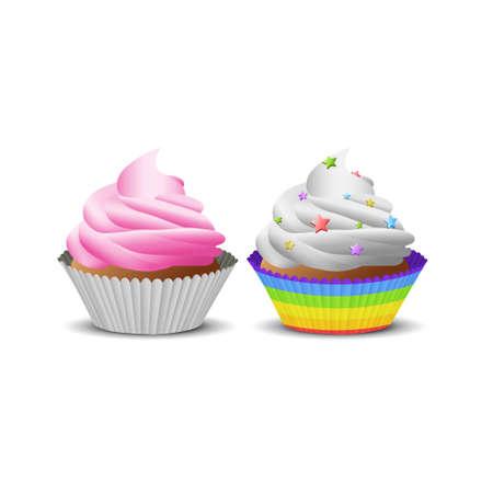 vector image: Illustration of cupcake Illustration