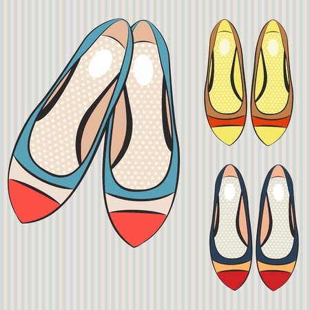 shoes for women illustration. Illustration