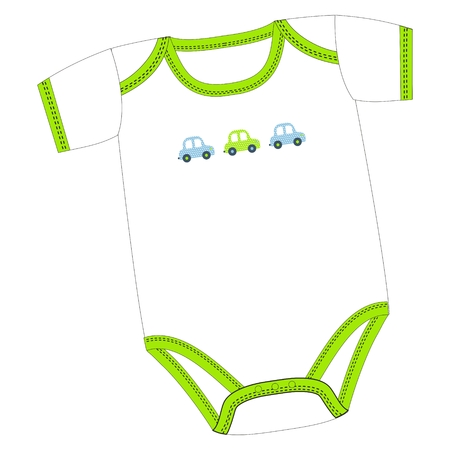 Vector clothes for newborn boy or girl