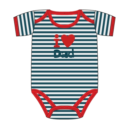 Fashion vector illustration clothes for newborn boy. 向量圖像