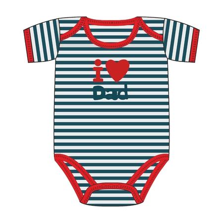 Fashion vector illustration clothes for newborn boy. Illustration