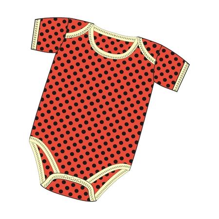 Vector fashion illustration clothes for newborn boy or girl