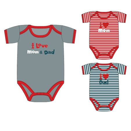 Vector illustration collection of clothes for newborn boy Standard-Bild - 125932158
