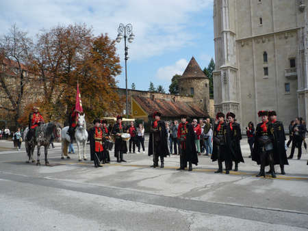 regiment: in the changing of the Guard honarary regiment Company tie,Zagreb,Croatia,september 2012