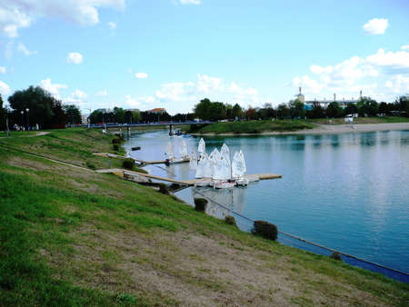 this is lake Jarun,Zagreb,Croatia,september 2012,and this beautiful for recreation,swimming,and jogging   Stock Photo - 15547479