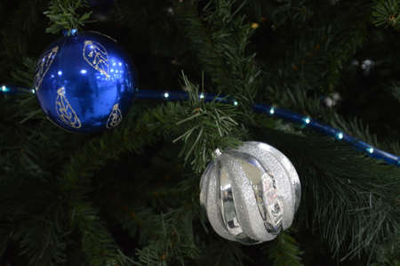 christmas decorative ball for christmas tree and holiday Christmas and new year Stock Photo