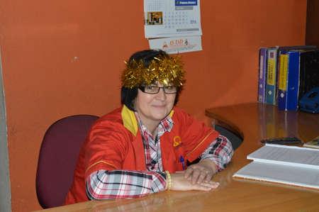 women  saleswoman a  saleswoman at a desk in a furniture showroom in Bosnia and Herzegovina