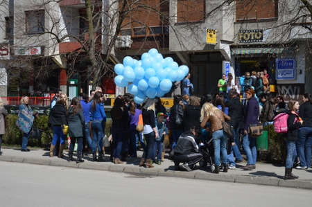 Day of autism characterized in city Lukavac,Bosna and Herzegovina 2 apri l2015