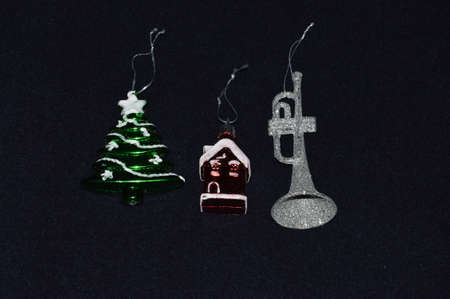 Christmas and New Years decoration elements for Christmas tree Stock Photo