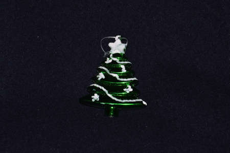 Decorative element New Year tree with snow for  Christams tree  for holidays New Years