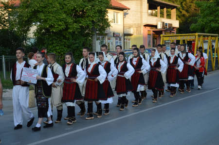 10 International festival folklore  on Lukavac,Bosnia 9.7.2016 year.This parade of folklore group Editorial