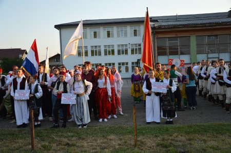 folklore: participants foklore group at 10 international festival folklore Lukavac 9.7.2016 years