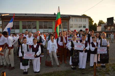 participants foklore group at 10 international festival folklore Lukavac 9.7.2016 years