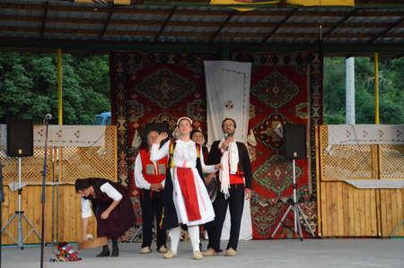 10 international festival folklore Lukavac 9.7.2016 years,Everyhere KUD Krenica from Gala  ,Sinj Croatia performed dance Editorial