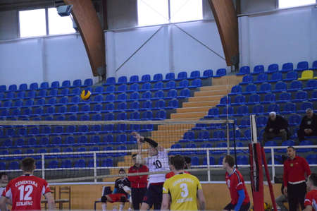 Volleyball derby match in Lukavac 12.3.2017 year to enter the higher ranking competitions OK 7 Lukavac-OK Sloboda, Tuzla
