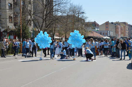 In the town of Lukavac 04022017 was marked World Day of awareness about autism, Bosnia and Herzegovina
