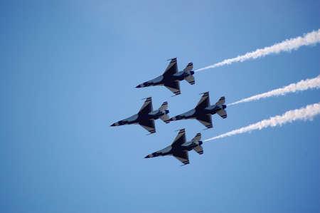 aviators: Thunderbirds in formation.