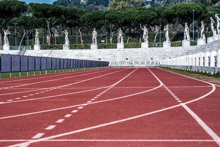 fascism: Rome, Italy - March 14, 2015: the Stadio dei Marmi in Rome.