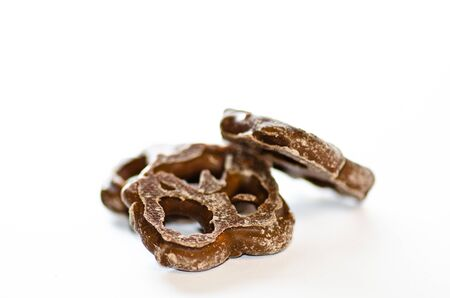 pretzel: Chocolate Pretzel Stock Photo