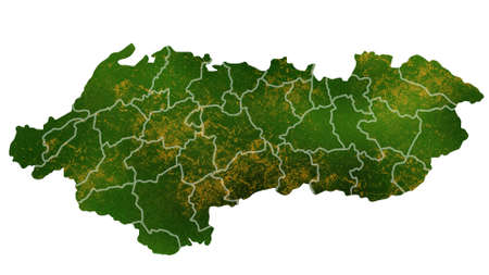 Albania map detailed visualization for country place,travel,texture and background