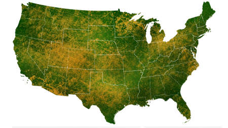 America map detailed visualization for country place,travel,texture and background Фото со стока