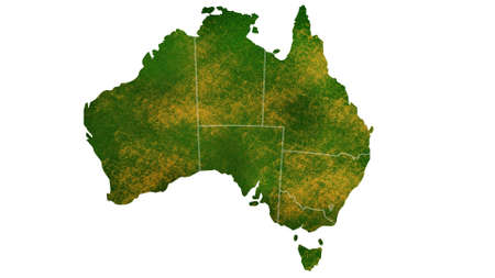 Australia map detailed visualization for country place,travel,texture and background Фото со стока