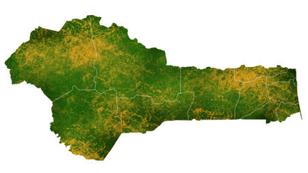 Benin map detailed visualization for country place,travel,texture and background Фото со стока