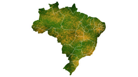 Brazil map detailed visualization for country place,travel,texture and background