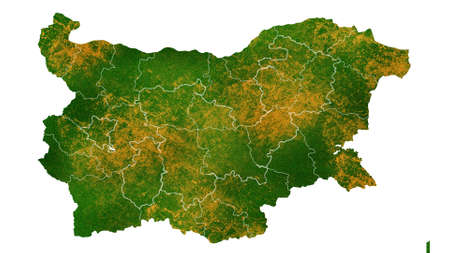 Bulgaria map detailed visualization for country place,travel,texture and background
